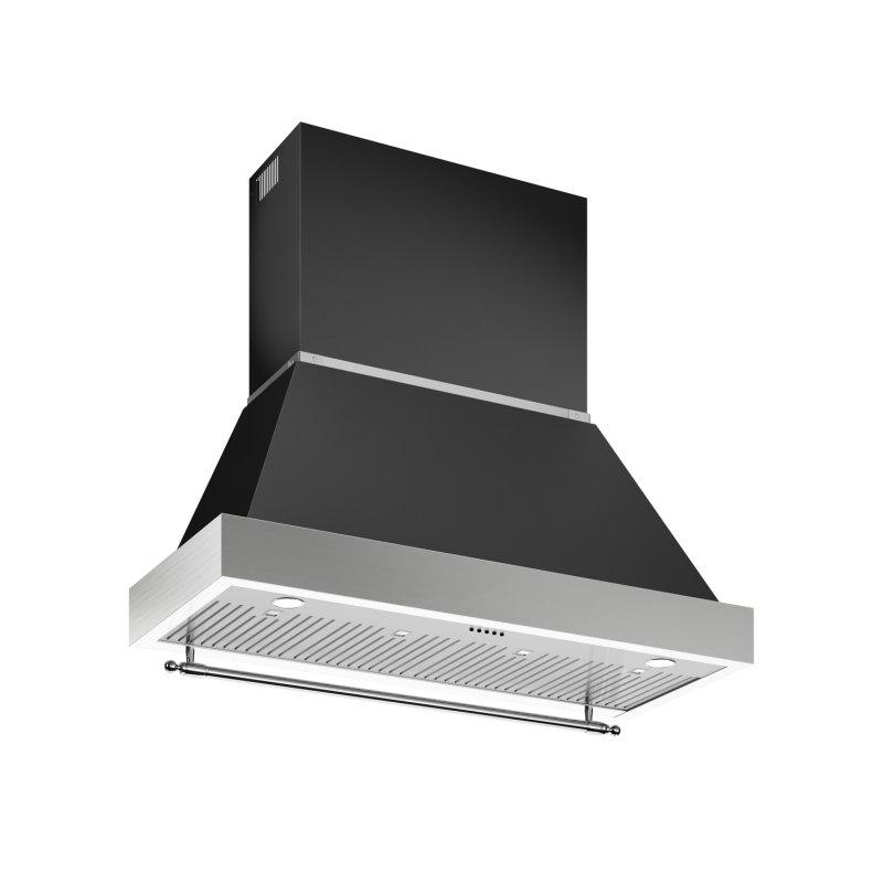 48 Wallmount Canopy and Base Hood, 1 motor 600 CFM Nero Matt