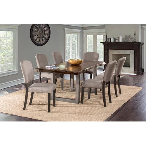 Product Image - Emerson 7pc Rectangle Dining Set - Gray Sheesham