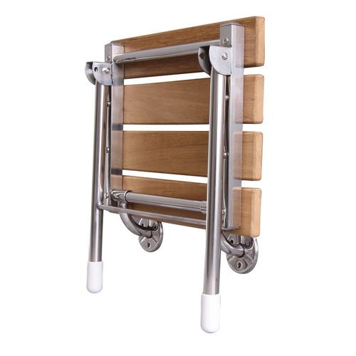 "15"" Fold-Up Slatted Shower Seat"