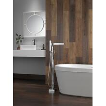 "White 68"" x 36"" Freestanding Tub with Integrated Waste and Overflow"