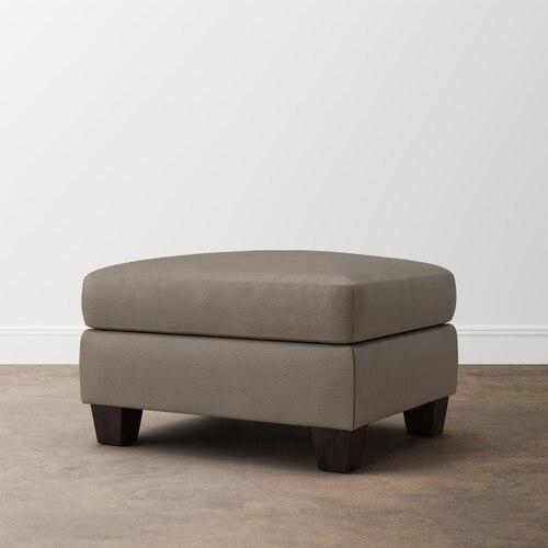 Ellery Leather Ottoman