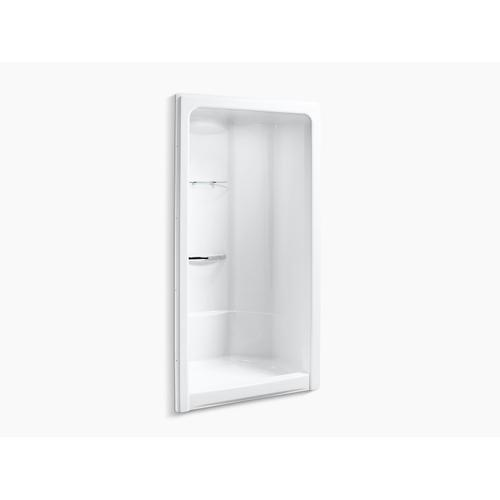 """Kohler - White 48"""" X 36"""" Front Center Drain Corner Shower Stall With Integral High-dome Ceiling, Requires Grab Bar"""