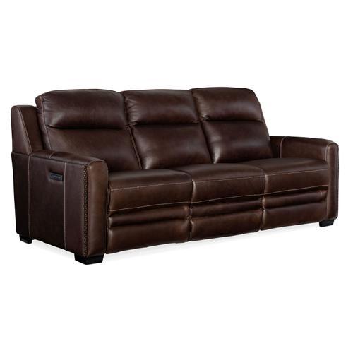 Hooker Furniture - Living Room Lincoln Power Recline Sofa w/ Power Headrest &Lumbar Recline