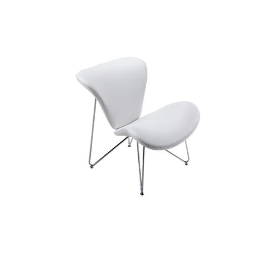 Gallery - Modrest Decatur Contemporary White Leatherette Accent Chair