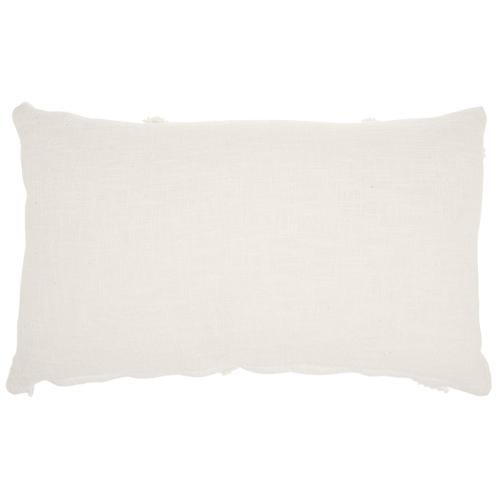 "Life Styles Sh018 White 14"" X 24"" Throw Pillow"