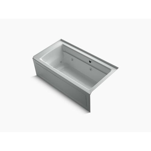 """Ice Grey 60"""" X 32"""" Alcove Whirlpool Bath With Bask Heated Surface, Integral Apron, Integral Flange and Right-hand Drain"""
