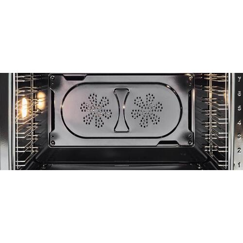 30 inch Dual Fuel, 5 Burners, Electric Oven Nero Matt