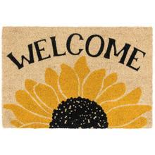 Doormat Welcome Sunflower Gold/Black 24x36