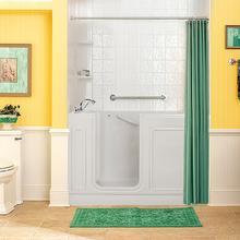 Acrylic Luxury Series 32x60 Air Bath Walk-in Tub with Tub Filler, Left Drain  American Standard - Linen