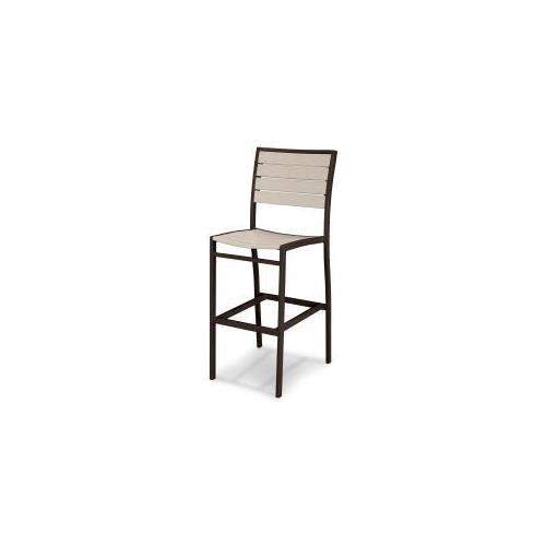 Polywood Furnishings - Eurou2122 Bar Side Chair in Textured Bronze / Sand