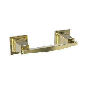 Uncoated Polished Brass - Living Double Post Toilet Tissue Holder