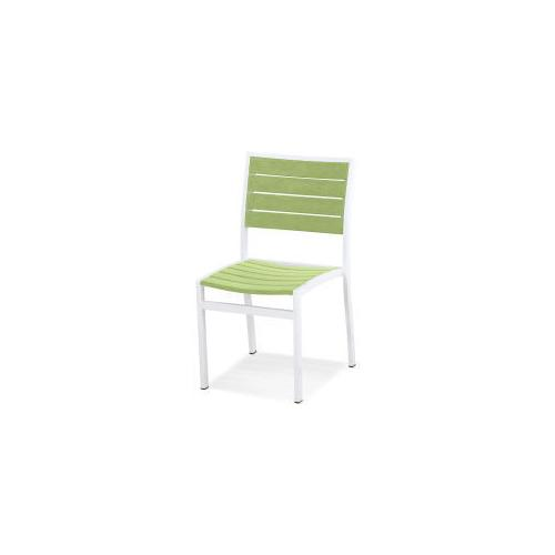 Polywood Furnishings - Eurou2122 Dining Side Chair in Satin White / Lime