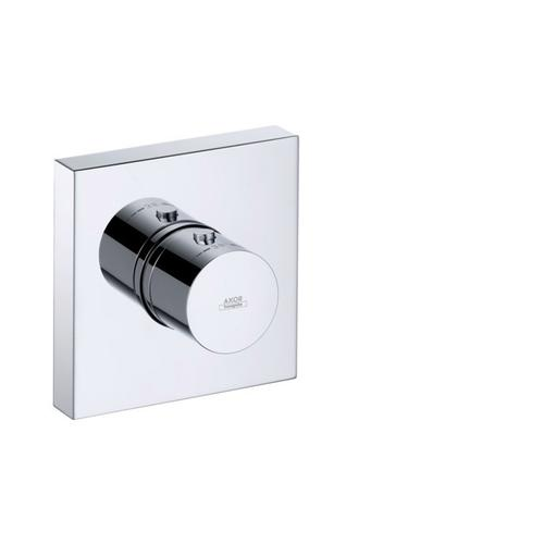 Chrome Thermostatic module 120/120 for concealed installation square