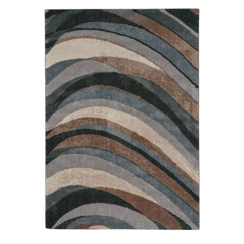Mineral-Wave Blue Slate Machine Woven Rugs