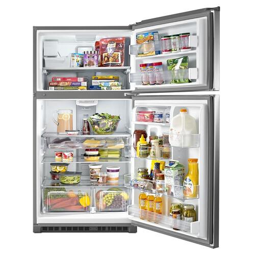 Gallery - 33-Inch Wide Top Freezer Refrigerator with EvenAir™ Cooling Tower- 21 Cu. Ft.