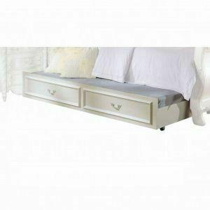 ACME Pearl Trundle (Optional) - 01008-TRN - Pearl White & Gold Brush Accent