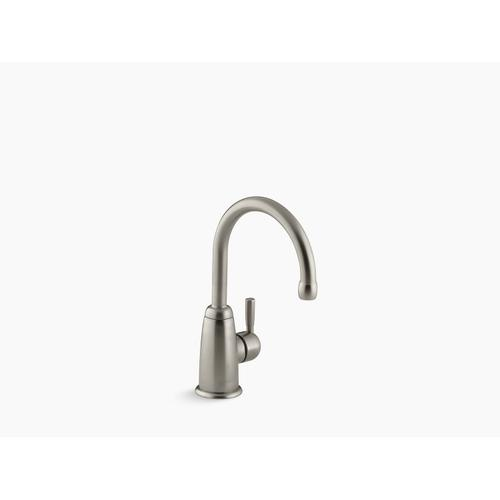 Vibrant Brushed Nickel Beverage Faucet With Contemporary Design