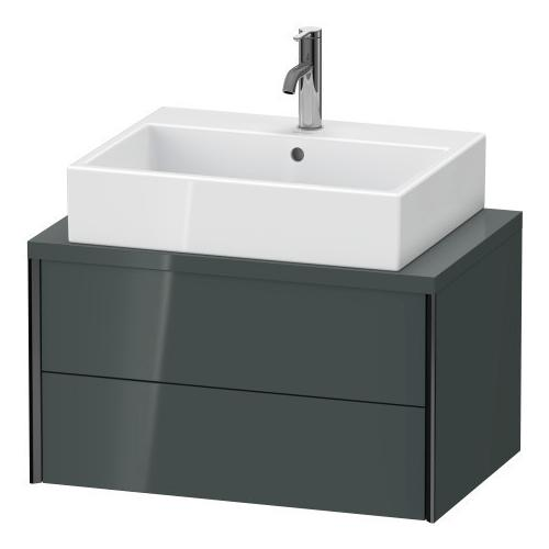 Vanity Unit For Console Compact, Dolomiti Gray High Gloss (lacquer)
