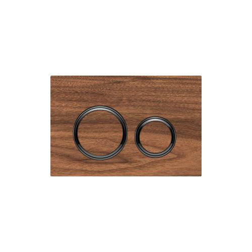 Sigma21 Dual-flush plates for Sigma series in-wall toilet systems Black Walnut Finish