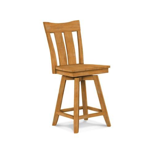 John Thomas Furniture - Ava 24'' Swivel Counter Stool
