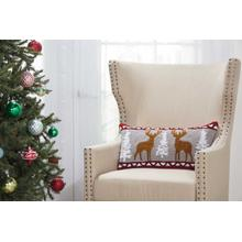 "Home for the Holiday Yx104 Multicolor 12"" X 24"" Throw Pillow"