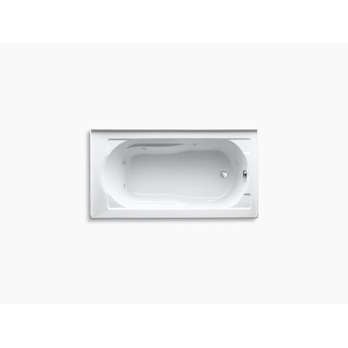 "White 60"" X 32"" Alcove Whirlpool With Integral Apron and Right-hand Drain"