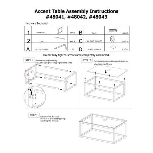 Howard Elliott - Square Stainless Steel Side Table - White