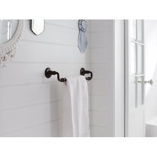 "Vibrant Brushed Nickel 18"" Towel Bar"