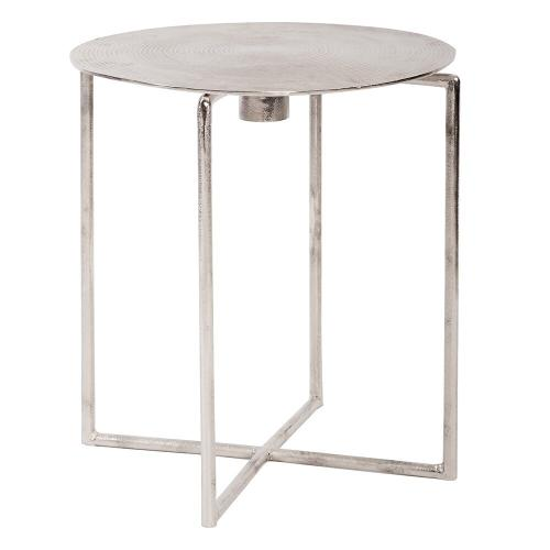 Howard Elliott - Raw Silver Spiral Top Accent Table