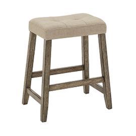 Upholstered Counter Stool- 2/CTN - Smokey Oak Finish