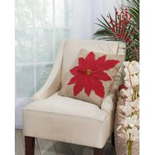 "Home for the Holiday L1317 Red 17"" X 17"" Throw Pillow"