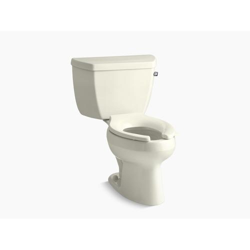 Biscuit Two-piece Elongated 1.6 Gpf Toilet With Right-hand Trip Lever, Less Seat