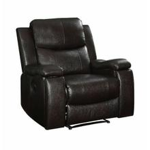 ACME Jasleen Recliner (Motion), Espresso Leather-Aire - 54457