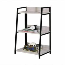 ACME Wendral Bookshelf (3-Tier) - 92672 - Industrial, Contemporary - Metal Tube, Paper Veneer (Laminate), MDF - Natural and Black