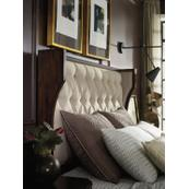 Palisade Upholstered Shelter Queen Bed - Taupe Fabric