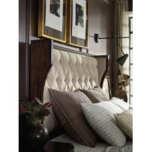 See Details - Palisade Upholstered Shelter Queen Bed - Taupe Fabric