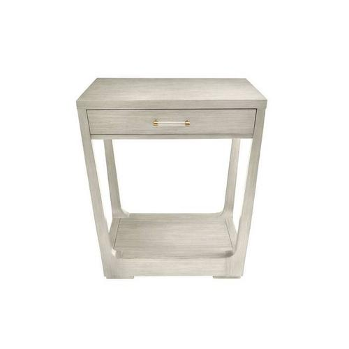 Latitude Square Lamp Table - Oyster