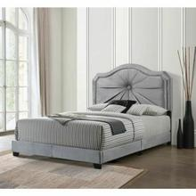 ACME Frankie Queen Bed - 26410Q - Gray Velvet