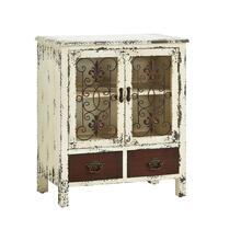 Parcel Antiqued White 2-door, 2-drawer Console