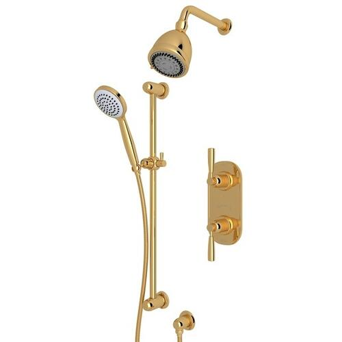 English Gold HOLBORN Thermostatic Shower Package with Holborn Metal Lever
