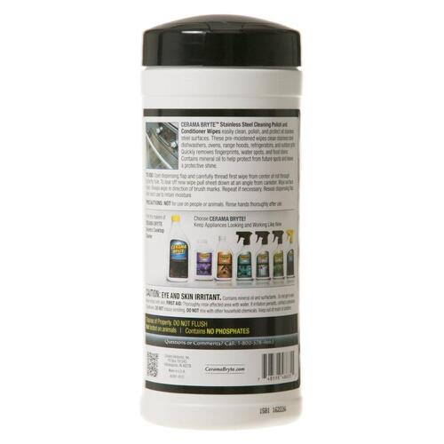 GE Appliances - Cerama Bryte Stainless Steel Wipes