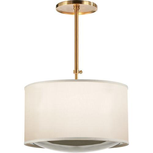 Visual Comfort - Barbara Barry Reflection 4 Light 24 inch Soft Brass Hanging Shade Ceiling Light