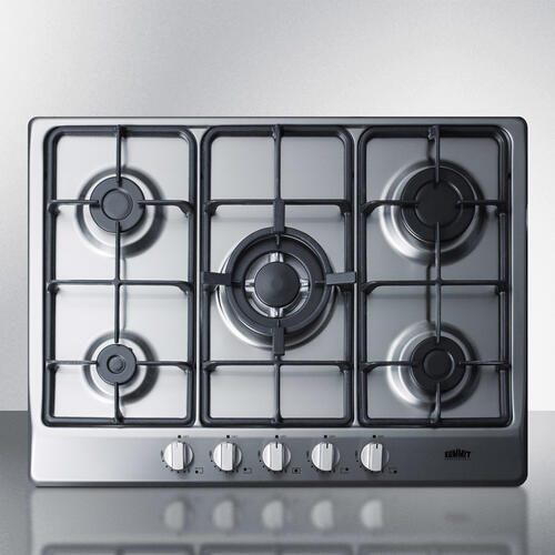 "27"" Wide 5-burner Gas Cooktop"
