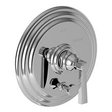 Biscuit Balanced Pressure Tub & Shower Diverter Plate with Handle. Less Showerhead, arm and flange.