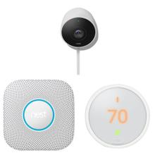 Protect, Learning Thermostat E and Cam Outdoor Kit