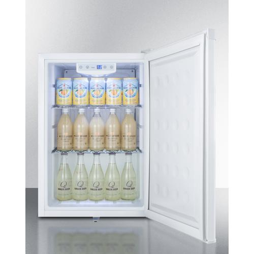 Product Image - Commercial Style Built-in Capable Compact All-refrigerator In White With Digital Thermostat
