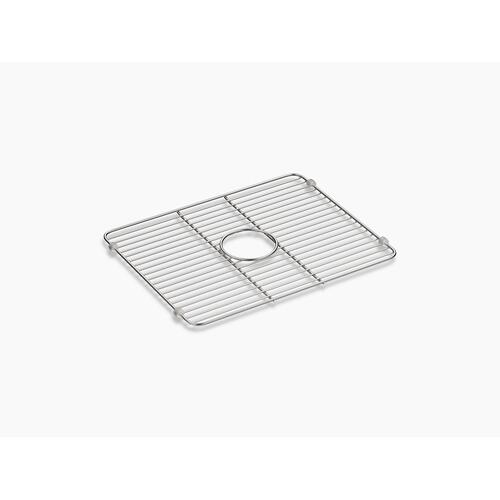 "Stainless Steel Smart Divide Stainless Steel Large Sink Rack, 18-1/4"" X 14-3/8"""