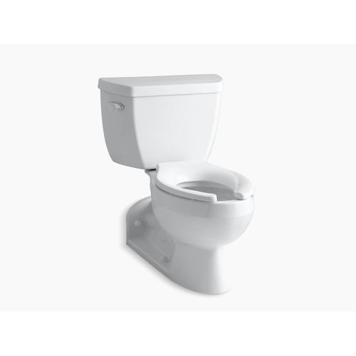 White Two-piece Elongated 1.6 Gpf Toilet With Pressure Lite Flushing Technology, Left-hand Trip Lever and Toilet Tank Locks