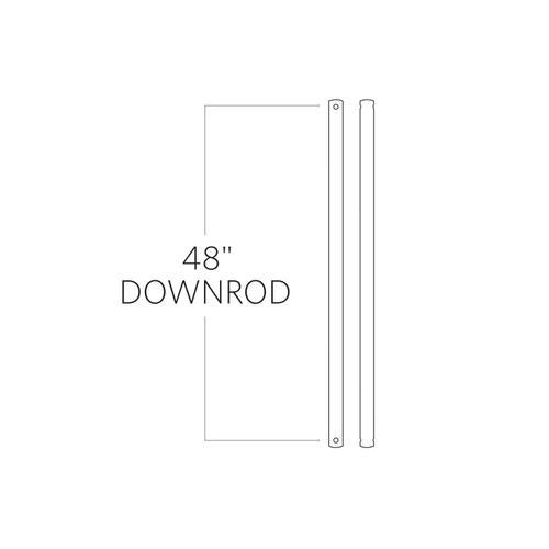 """48"""" Downrod - Titanium"""