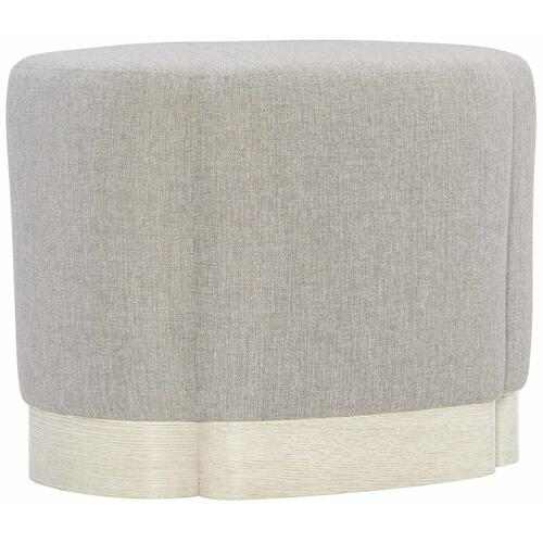 Allure Ottoman in Manor White (399)